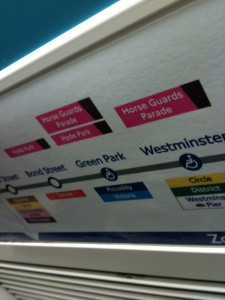 Olympic venues now marked on tube...