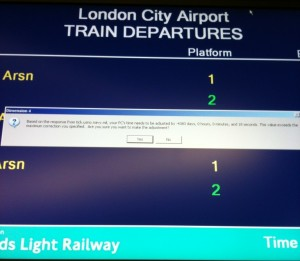 I believe the DLR's computers may...