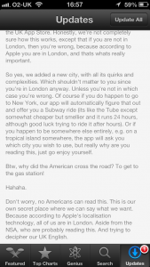 I adore Citymapper's change logs.